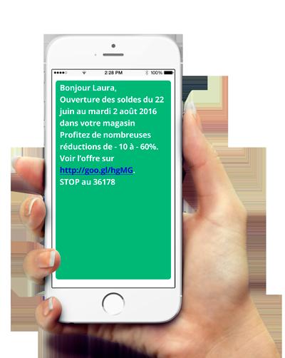 Campagne SMS Soldes TLPhone