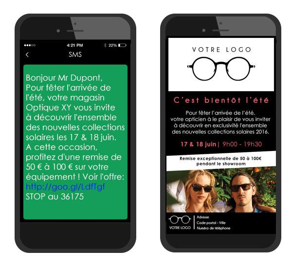 SMS enrichi site mobile TLPhone
